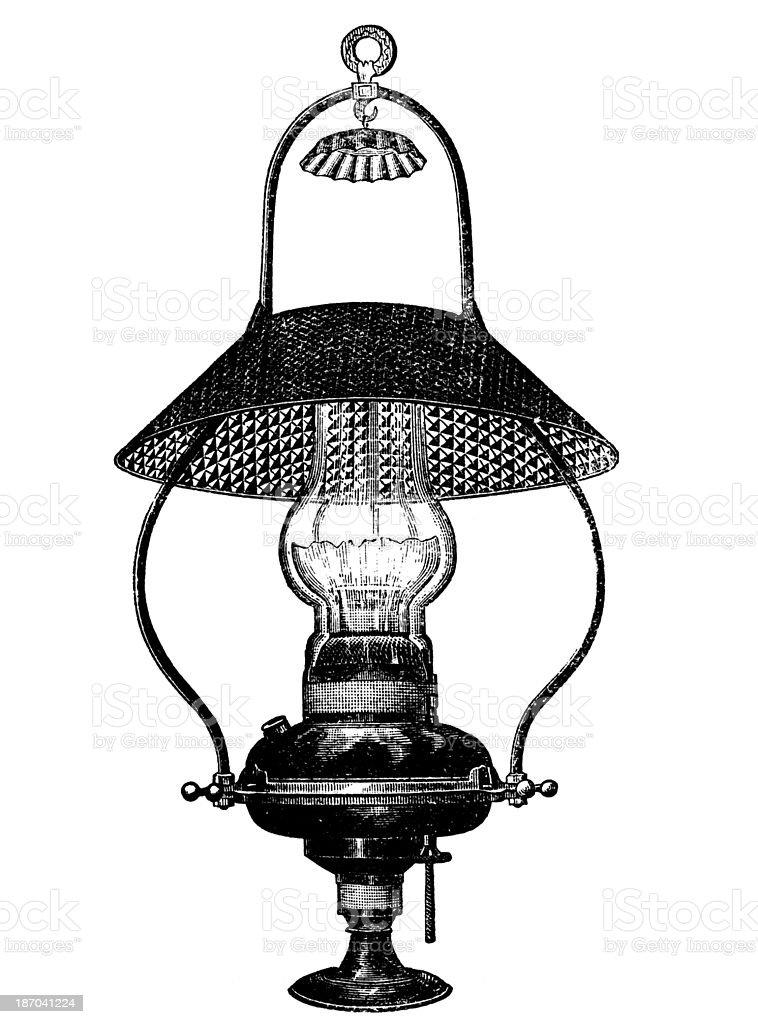 Vintage lamp,19th century. royalty-free stock vector art