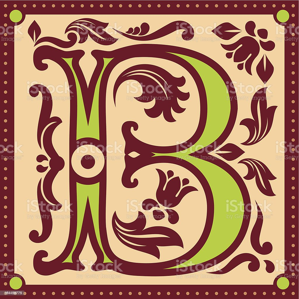 vintage letter B royalty-free stock vector art