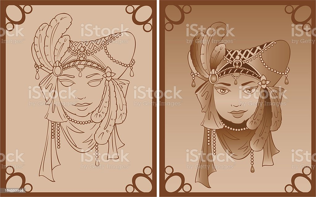 Vintage Mask royalty-free stock vector art