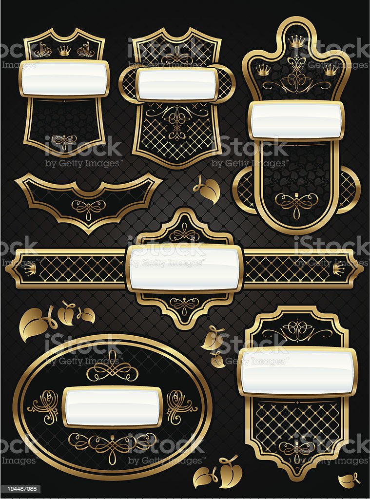 Vintage old-style label royalty-free stock vector art