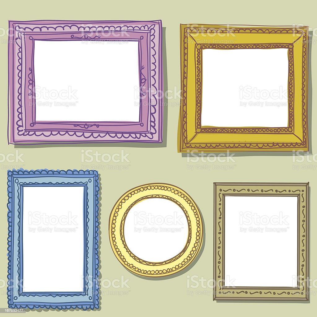 Vintage ornate frame in sketch style royalty-free stock vector art