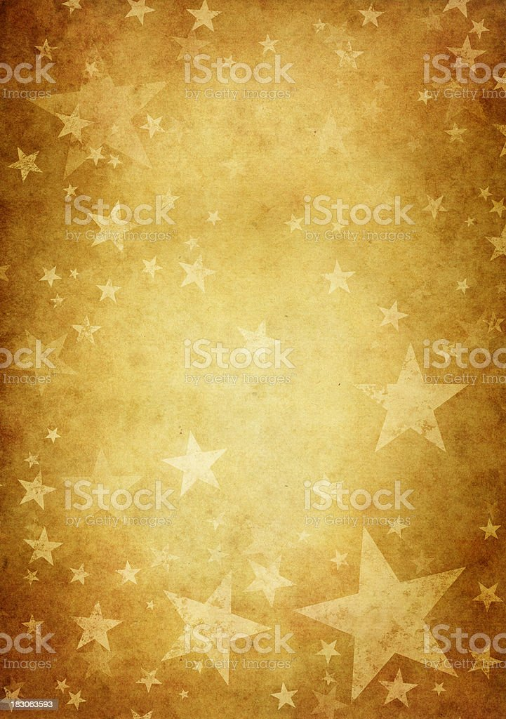vintage paper decorated with grungy stars royalty-free stock vector art