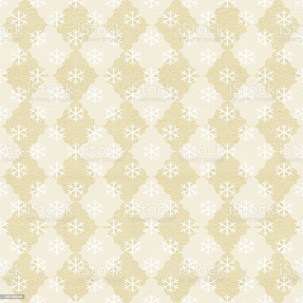 vintage paper with snowflake pattern royalty-free stock vector art