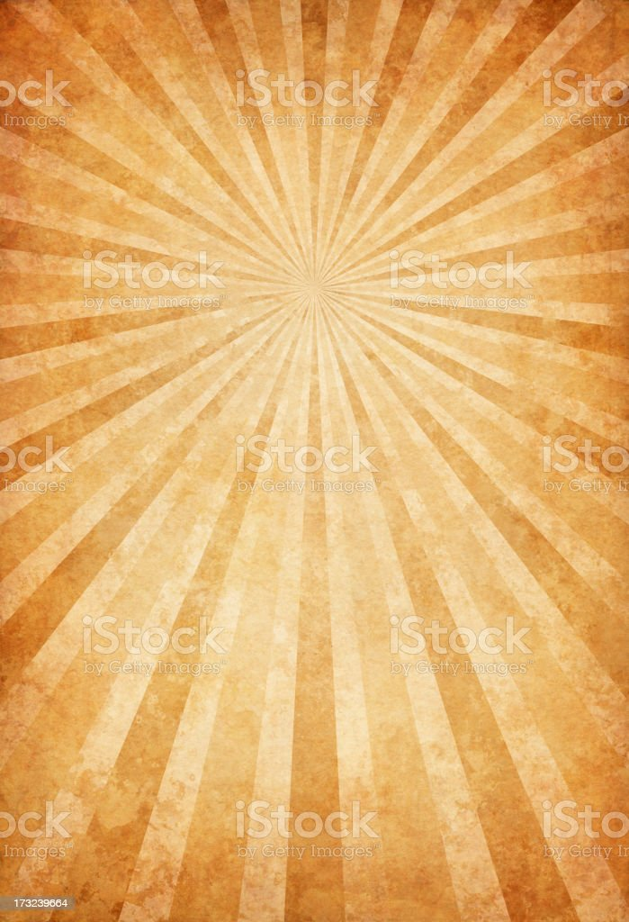 vintage paper with sunbeams vector art illustration
