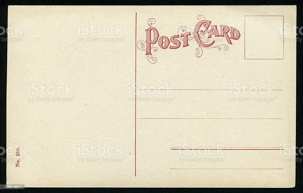 Vintage postcard (XXXL) royalty-free vintage postcard stock vector art & more images of 1900