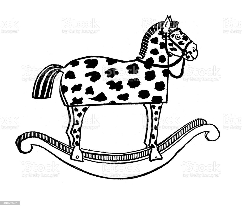 Vintage Rocking Horse Stock Illustration Download Image Now Istock
