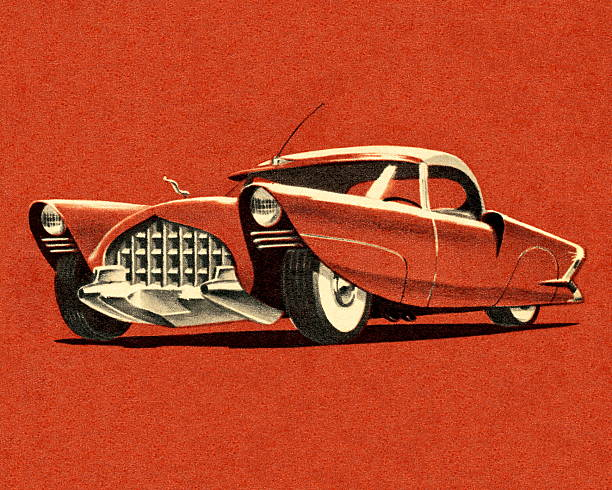 illustrazioni stock, clip art, cartoni animati e icone di tendenza di vintage ruggine auto - close up auto