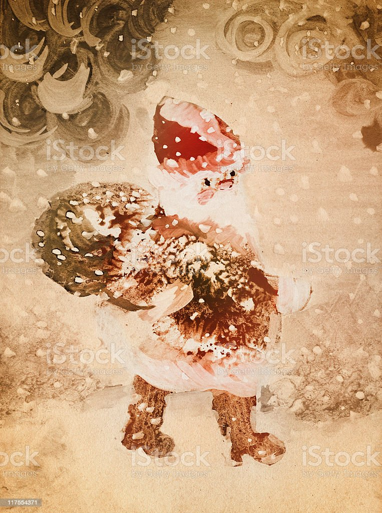 vintage santa claus royalty-free vintage santa claus stock vector art & more images of ancient