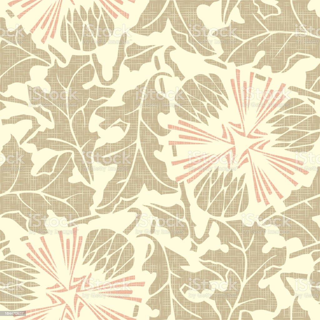 Vintage Seamless floral background. Vector dandelion royalty-free stock vector art