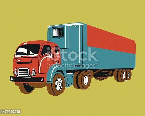 Vintage Semi Truck Stock Vector Art & More Images of 2015 471010248 ...