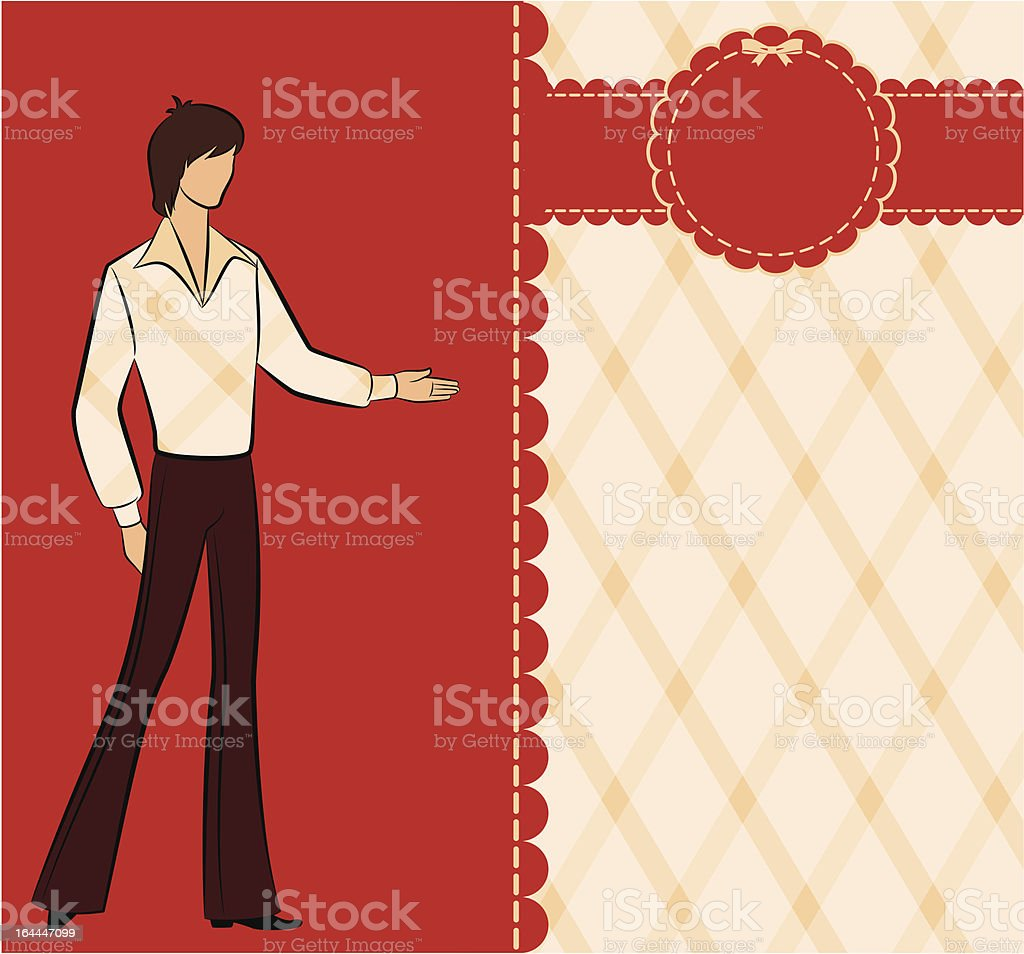 Vintage silhouette of man. Vector royalty-free stock vector art