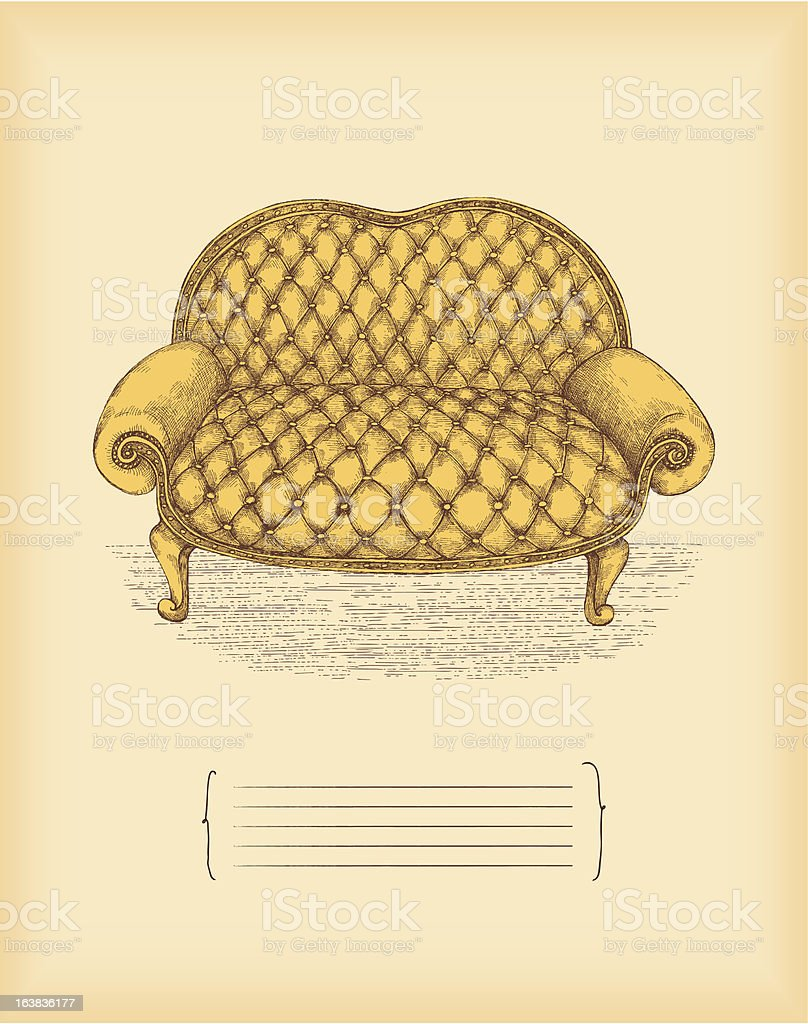 Vintage Sofa Drawing Stock Illustration Download Image Now Istock