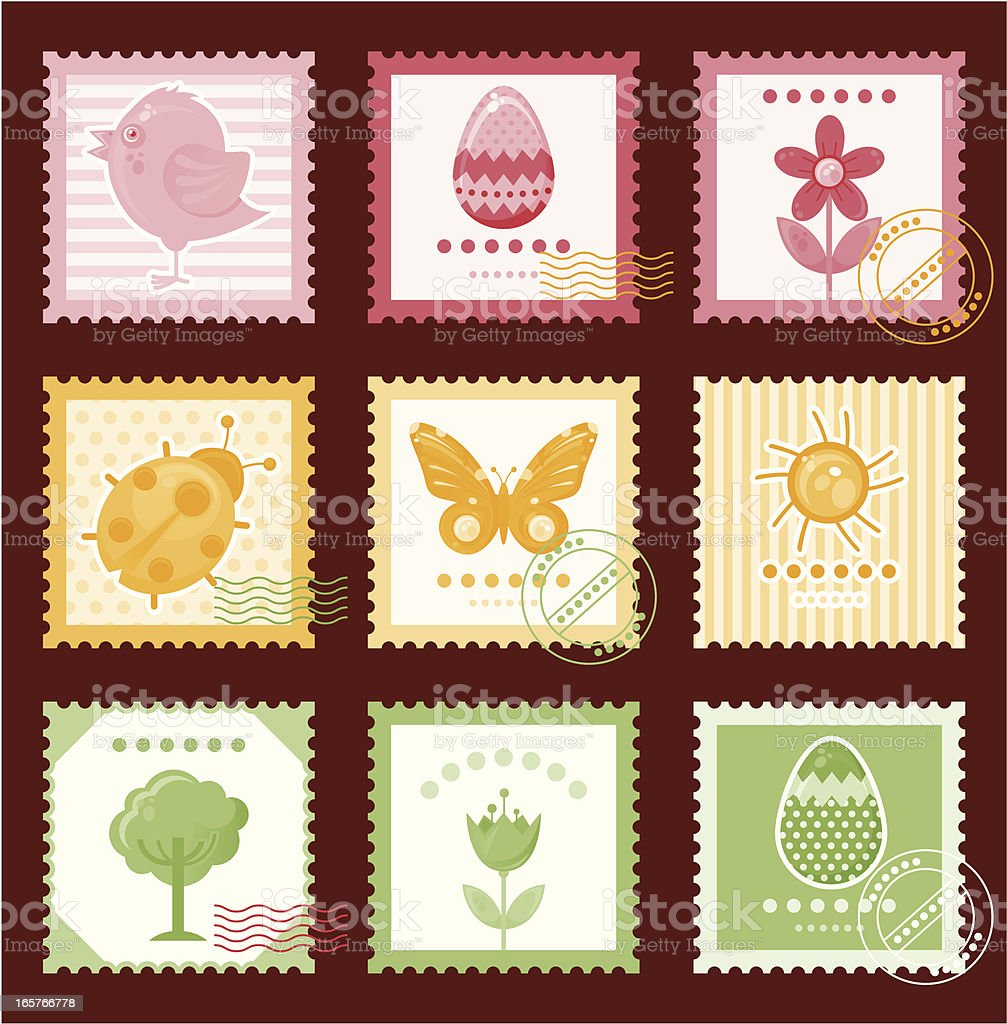 Vintage stamps. royalty-free vintage stamps stock vector art & more images of animal