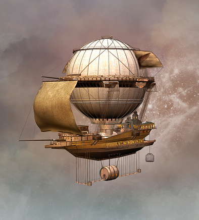 Steampunk style stock illustrations