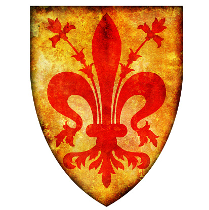 vintage symbol of florence region in Italy