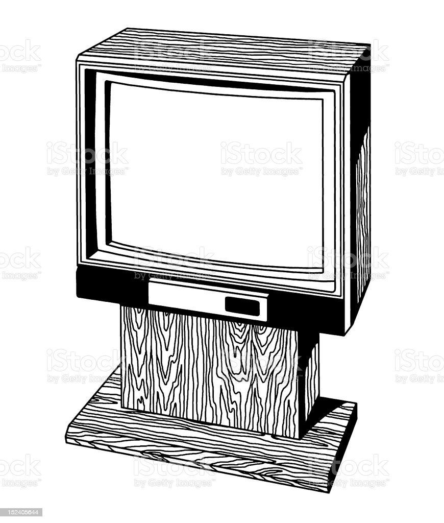 Vintage Television royalty-free vintage television stock vector art & more images of arts culture and entertainment