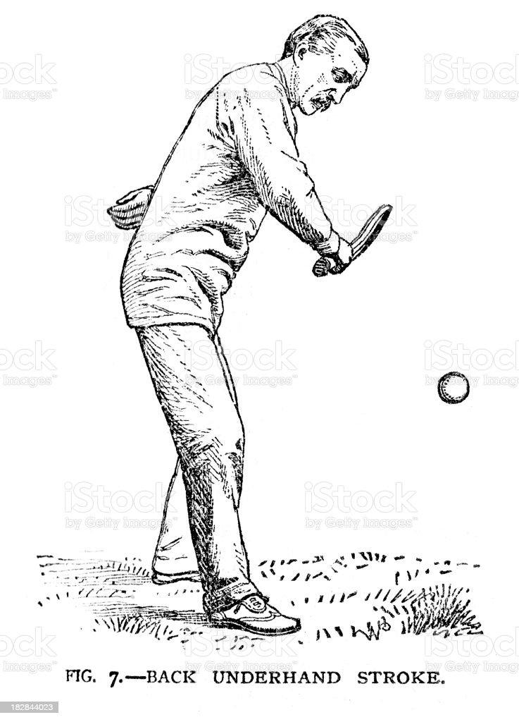 Vintage Tennis vector art illustration