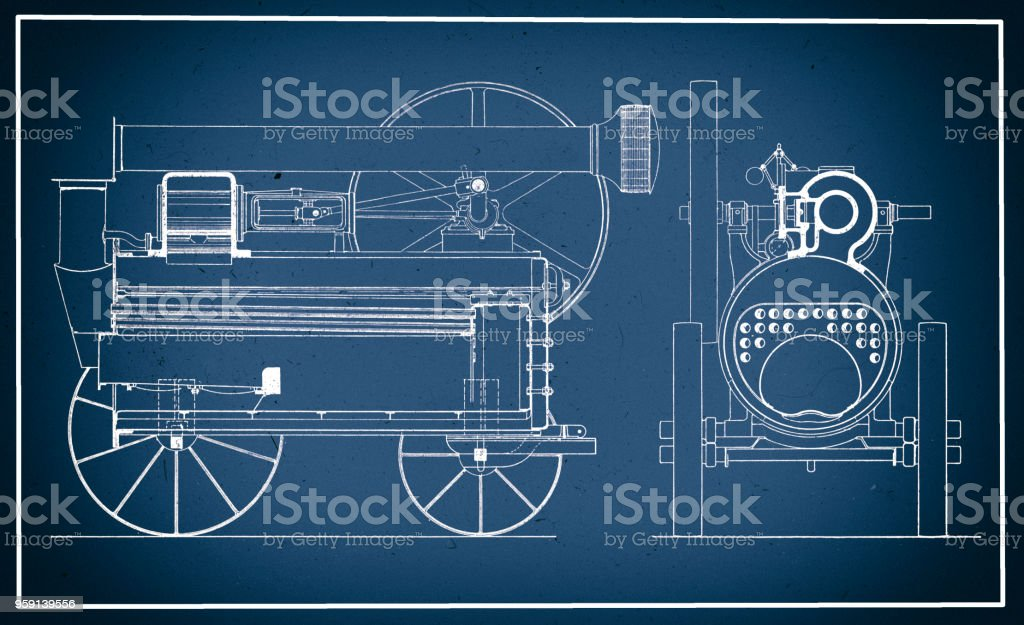 Vintage train blueprint stock vector art more images of 19th vintage train blueprint royalty free vintage train blueprint stock vector art amp more images malvernweather Gallery