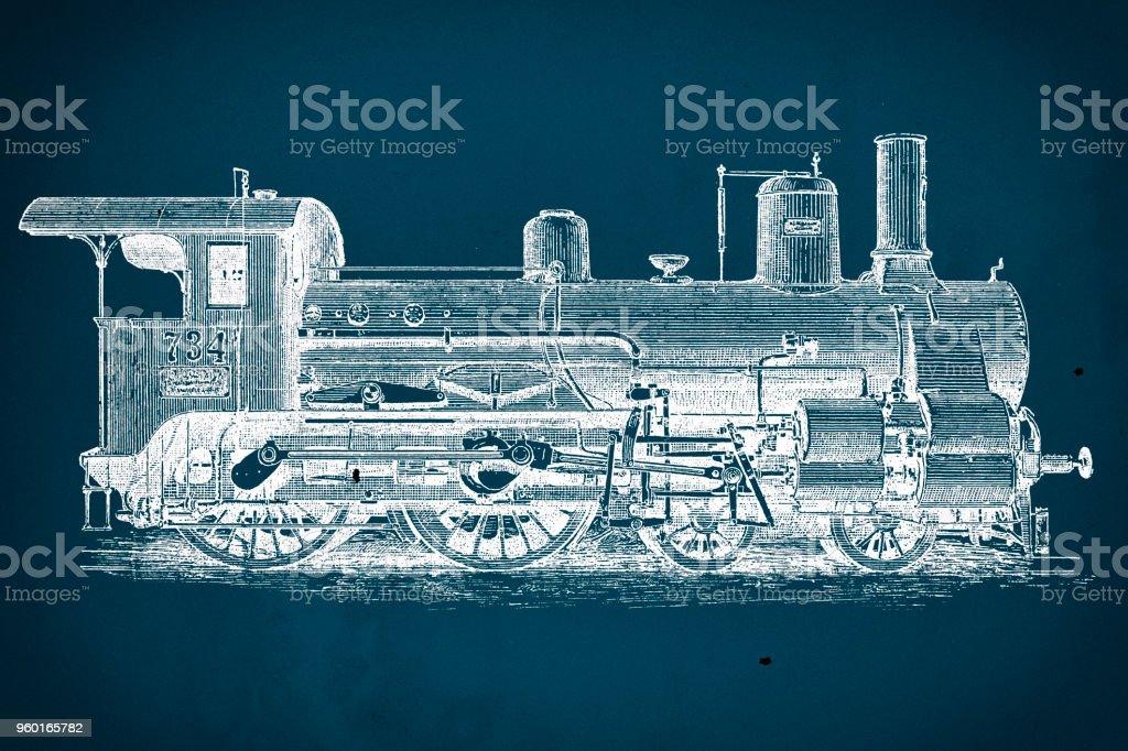 Vintage train blueprint stock vector art more images of 19th vintage train blueprint royalty free vintage train blueprint stock vector art amp more images malvernweather Choice Image