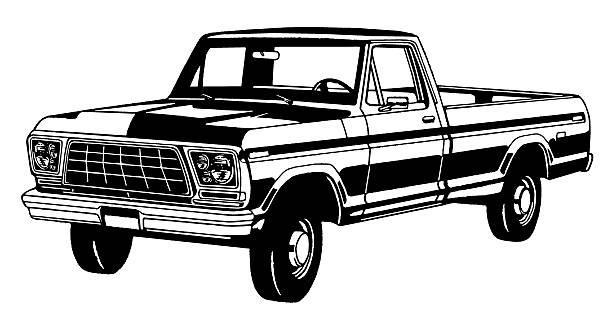 2 820 Black And White Truck Illustrations Clip Art Istock