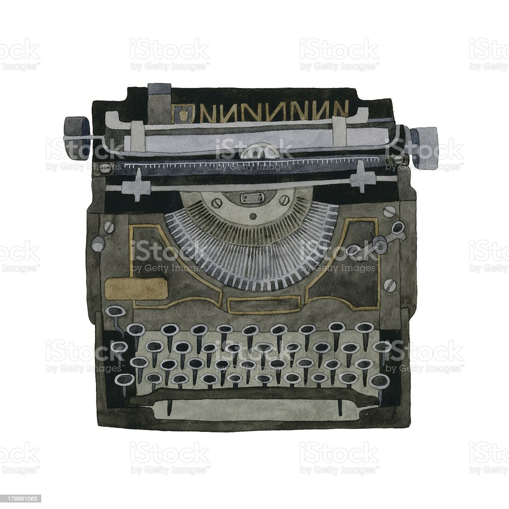 Vintage Typewriter royalty-free stock vector art
