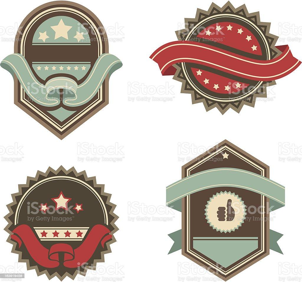 vintage vector labels royalty-free stock vector art