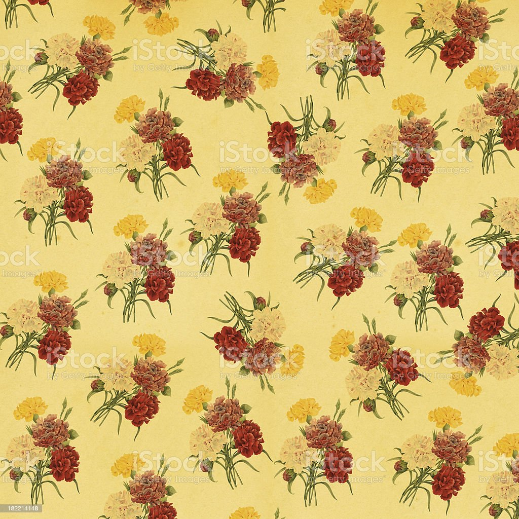 Vintage Wallpaper with Flowers | Antique Flower Illustrations royalty-free vintage wallpaper with flowers antique flower illustrations stock vector art & more images of 19th century