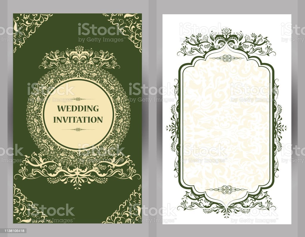 Vintage Wedding Invitation Card With Mandala Pattern Floral Mandala Pattern And Ornaments Oriental Design Asian Arab Indian Stock Illustration Download Image Now Istock
