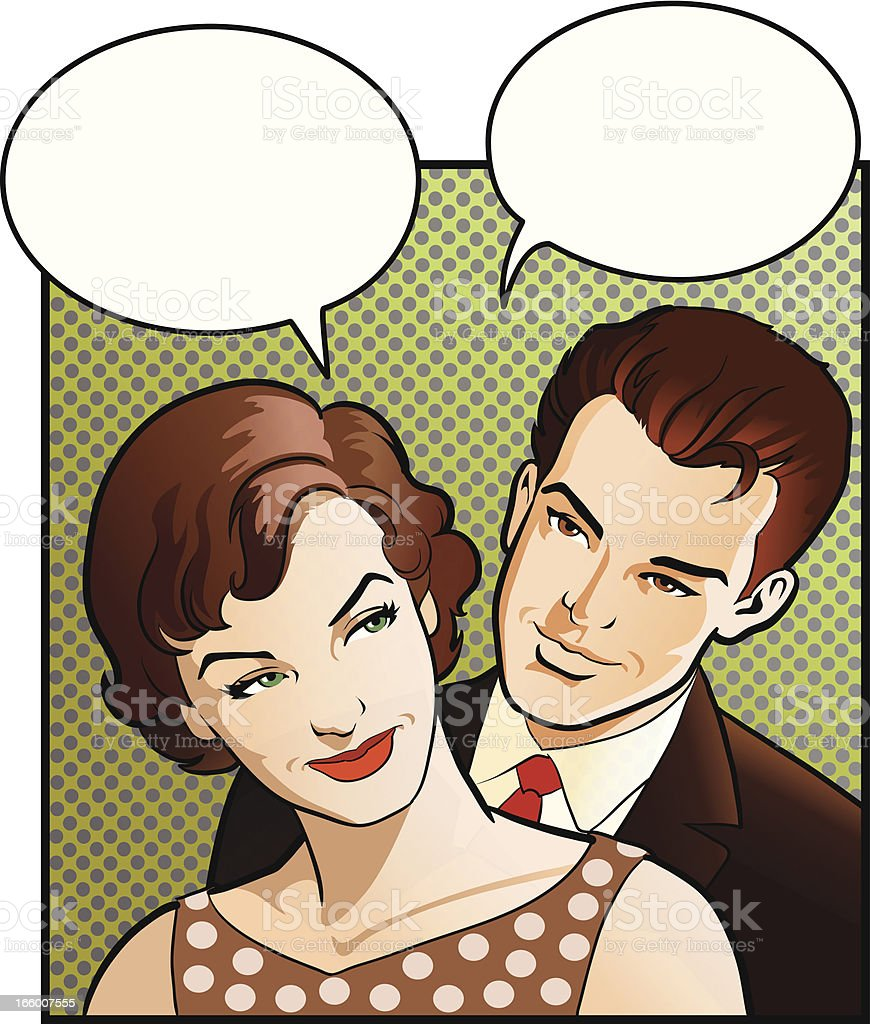 Vintage Woman and her Man royalty-free vintage woman and her man stock vector art & more images of adult
