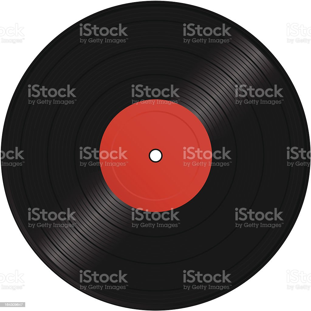 Vinyl Record royalty-free stock vector art