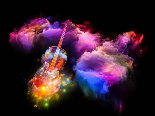 Violin Dream vector art illustration