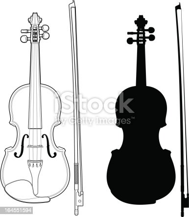 istock Violin with bow 164551594