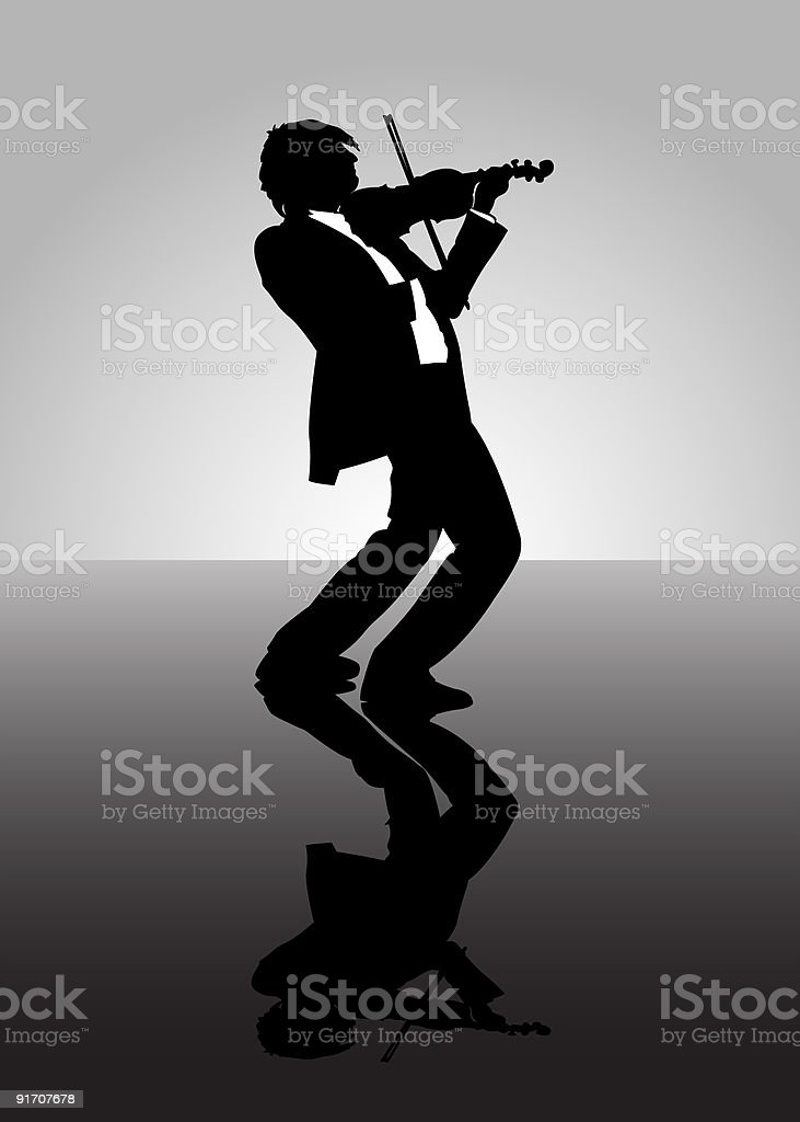 Violinist royalty-free stock vector art
