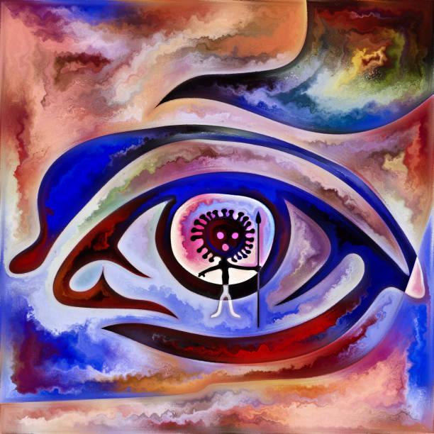 Viral Vision vector art illustration