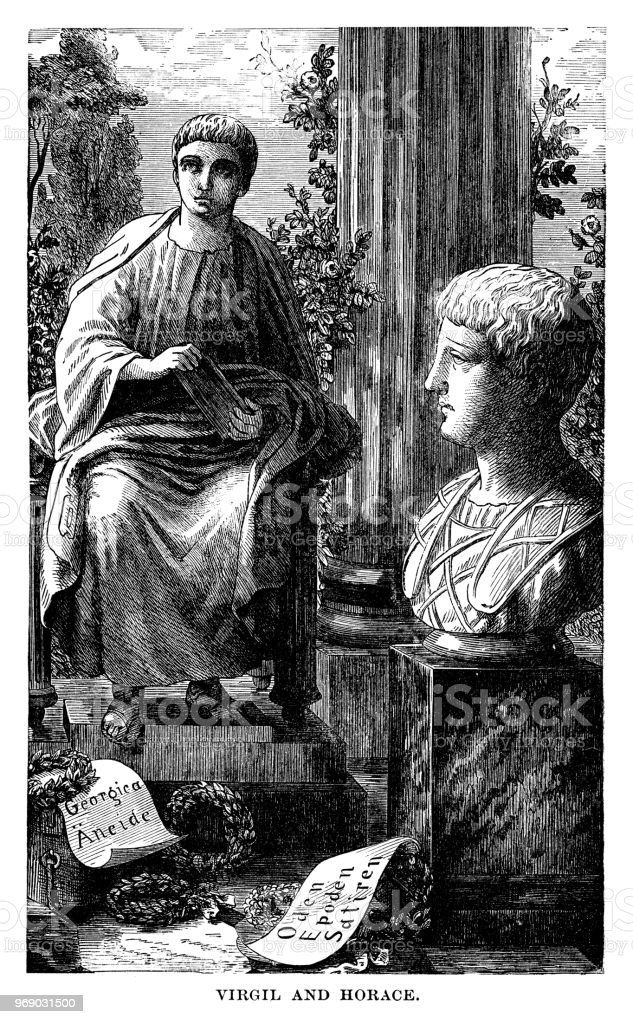 Virgil And Horace Stock Illustration - Download Image Now
