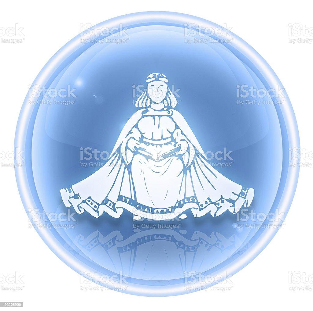 Virgo zodiac icon ice, isolated on white background. royalty-free stock vector art