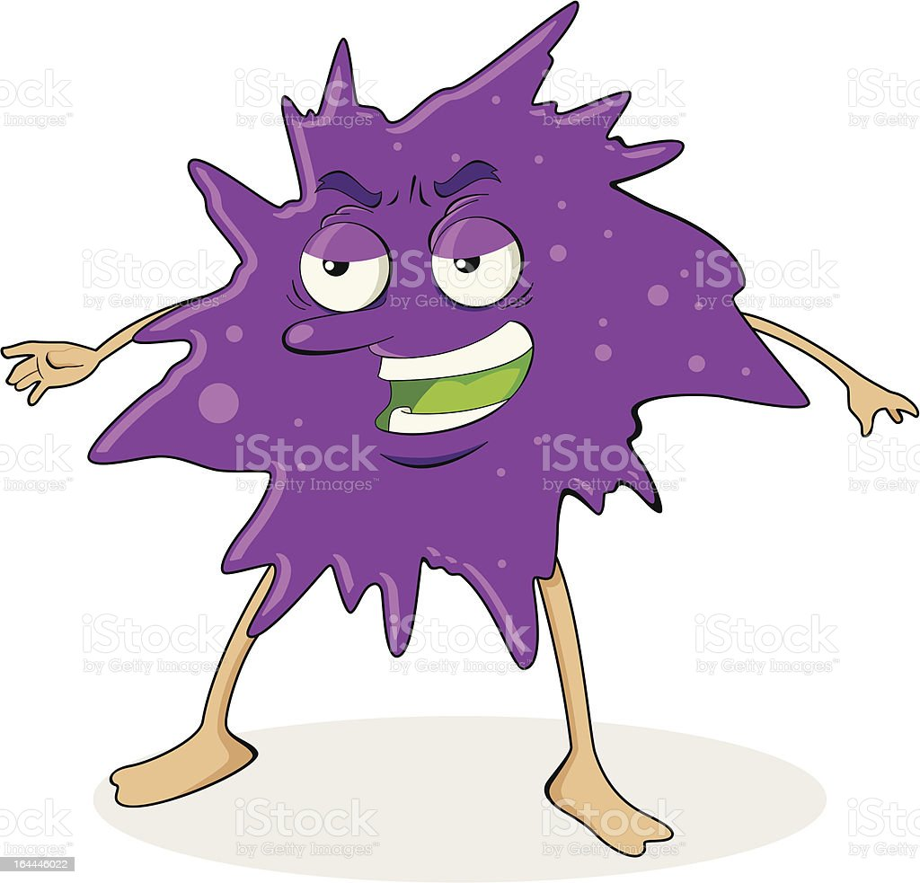 Virus Bacteria Purple vector art illustration