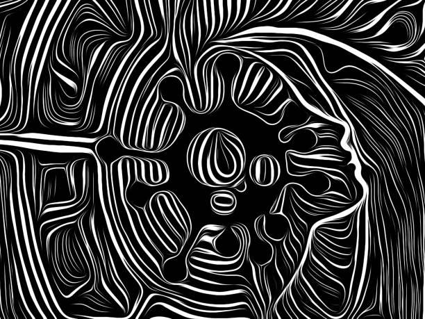 Virus Black vector art illustration