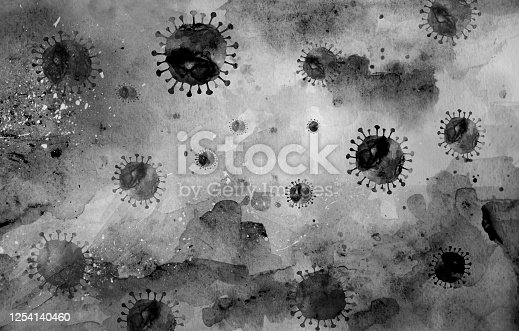 Virus cells background and Viral infection