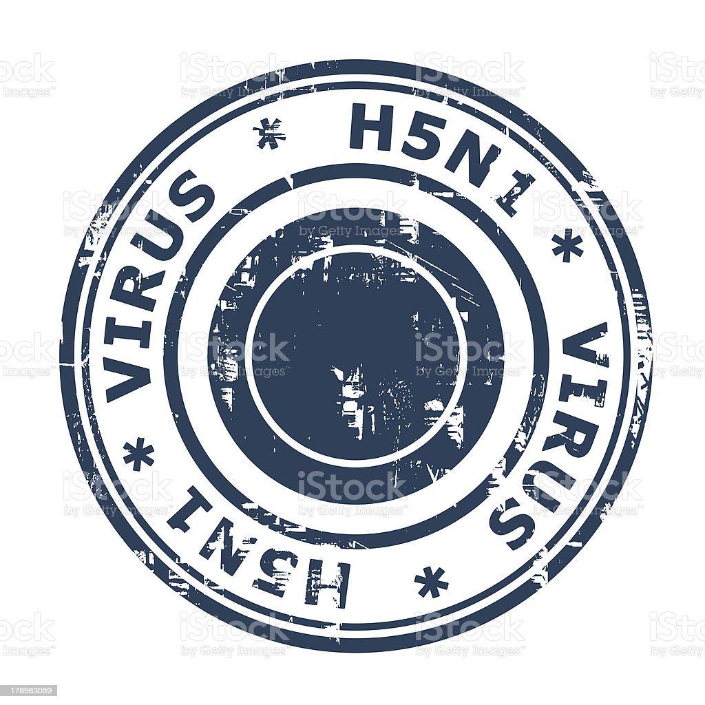 H5N1 Virus Stamp vector art illustration