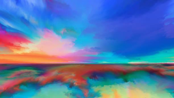 Vision of Abstract Landscape vector art illustration
