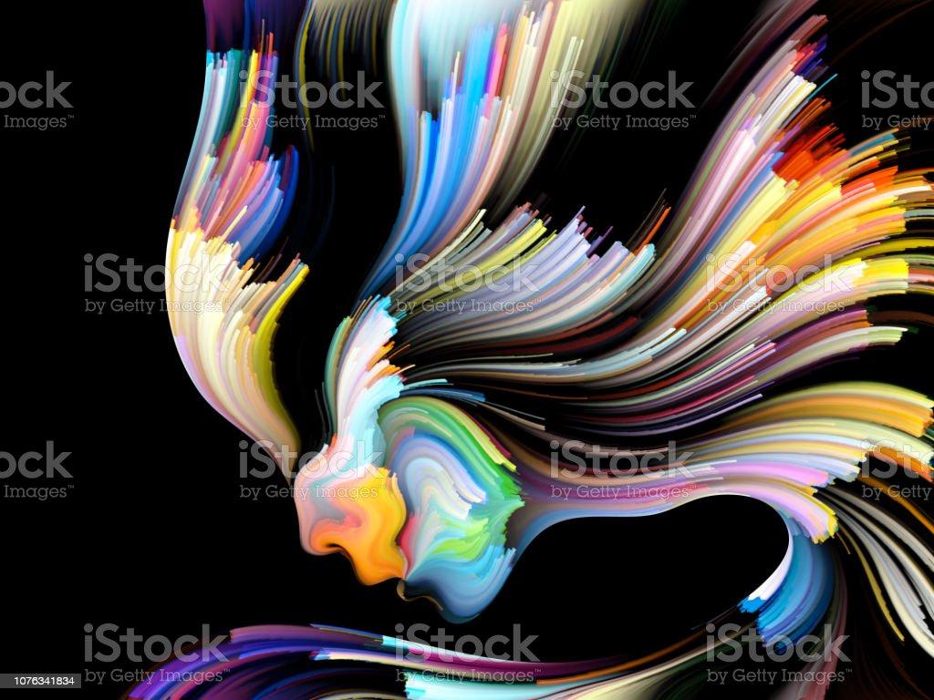 Vision of Inner Palette vector art illustration