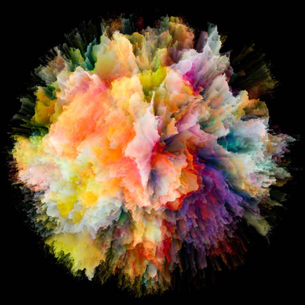 Vivid Color Splash Explosion vector art illustration
