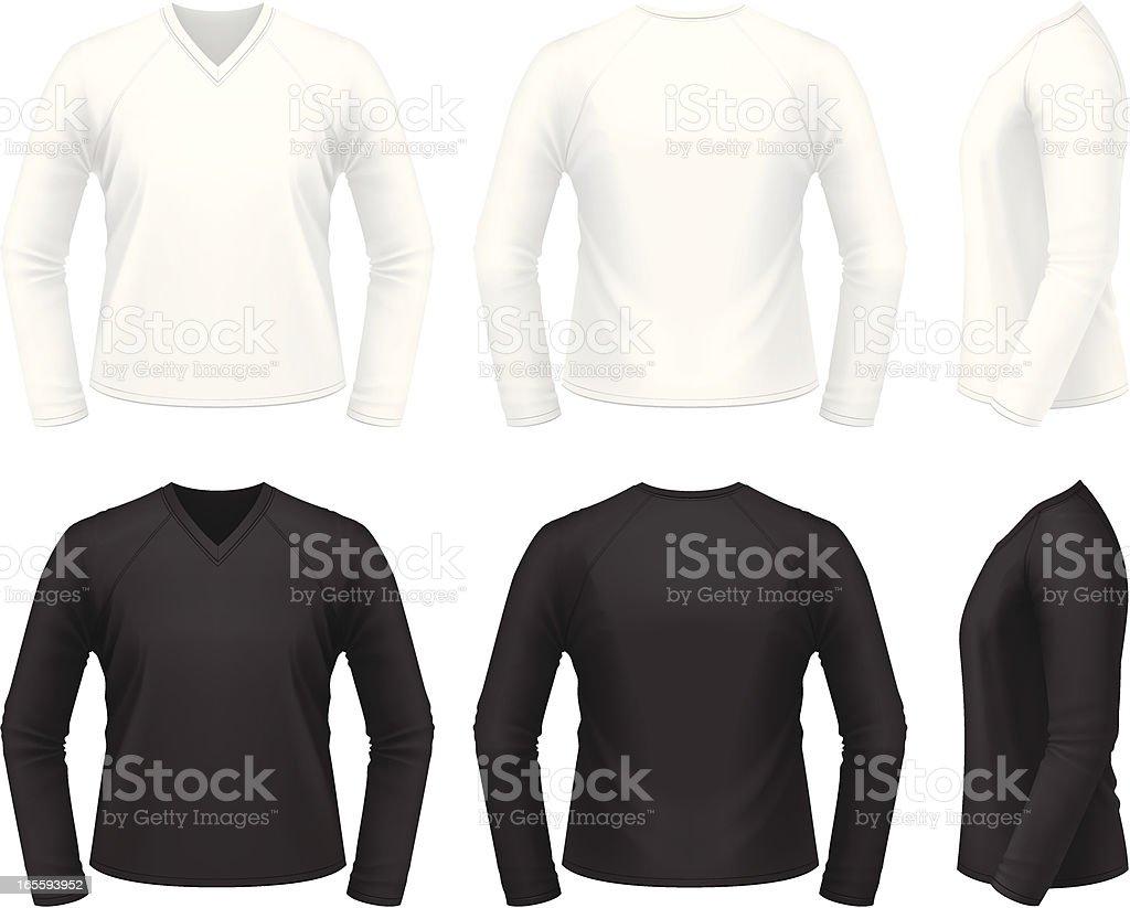 V-neck shirt royalty-free stock vector art