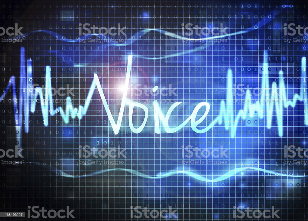 voice recognition royalty-free stock vector art