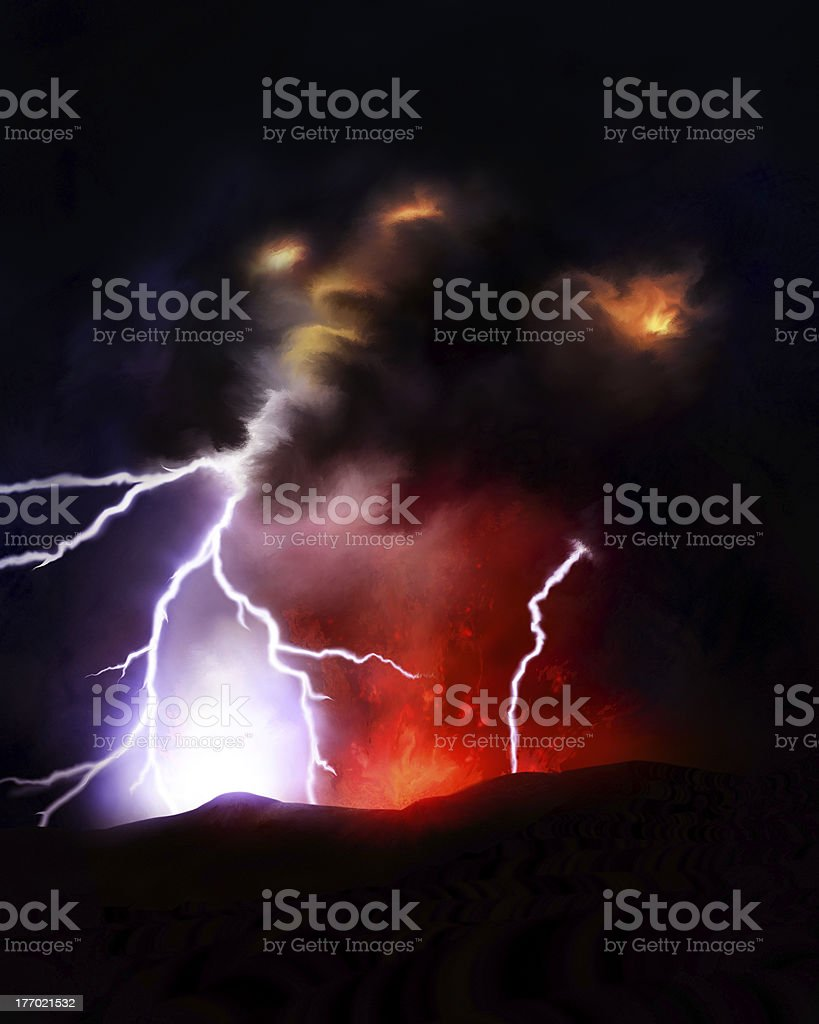 Volcanic Lighting Storm royalty-free stock vector art & Volcanic Lighting Storm stock vector art 177021532 | iStock azcodes.com