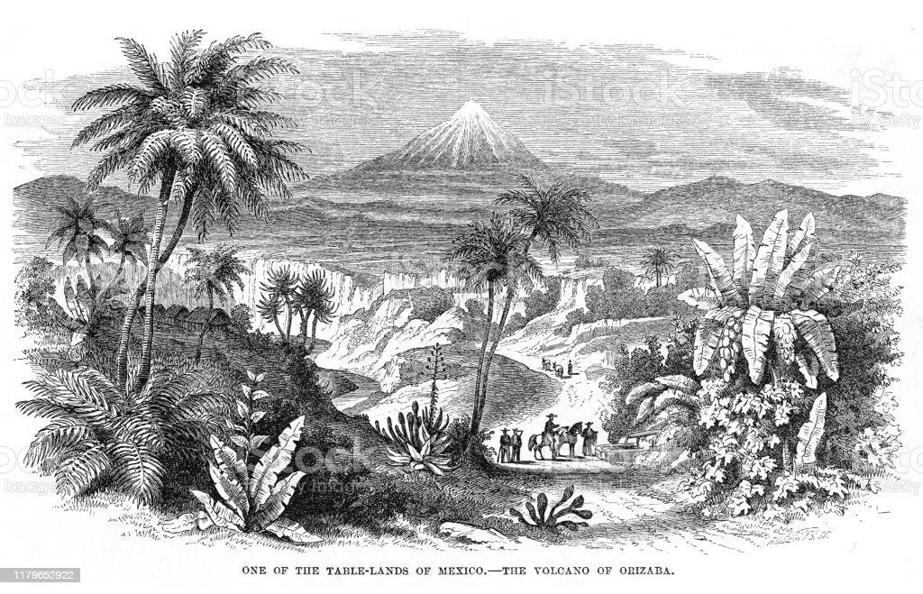 volcano-mexico-engraving-1868-illustrati