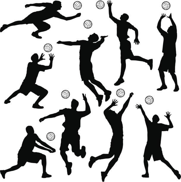 バレーボール - バレーボール点のイラスト素材/クリップアート素材/マンガ素材/アイコン素材