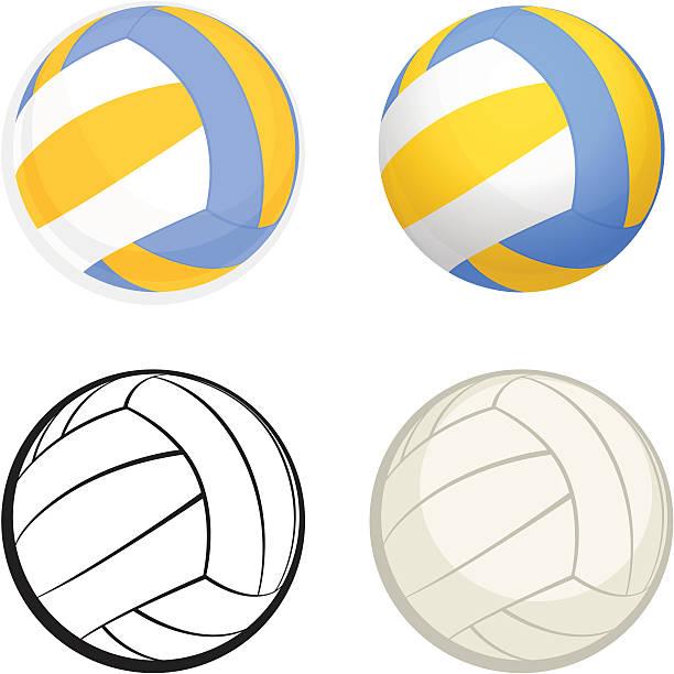 Volleyball vector art illustration