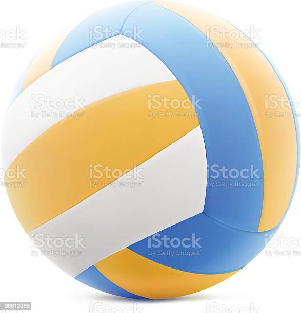 Волейбол — стоковая векторная графика и другие изображения на тему Без людей
